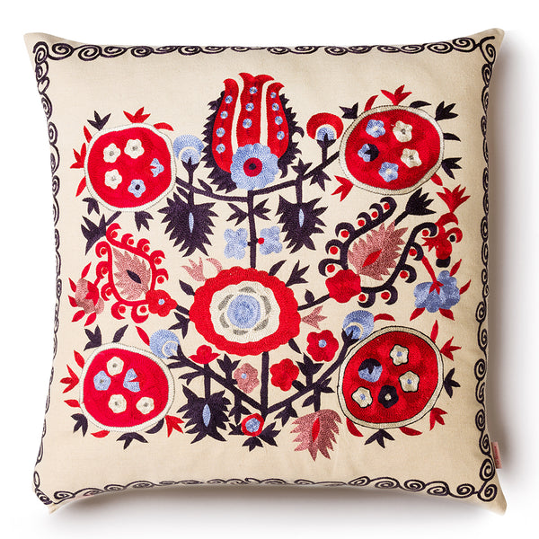 Pomegranate Square Pillow  Red