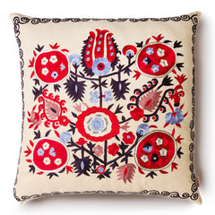 Pomegranade Square Silk Pillow