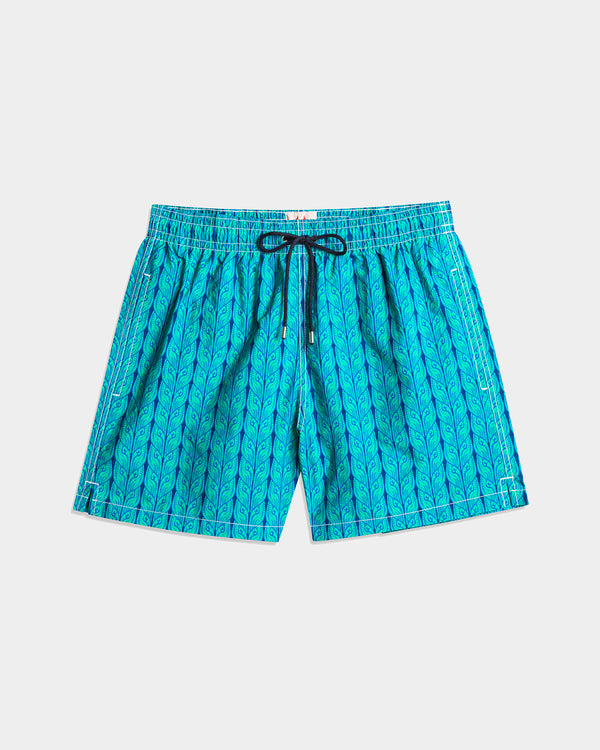 Men's Swimming Trunk - New Plats Green