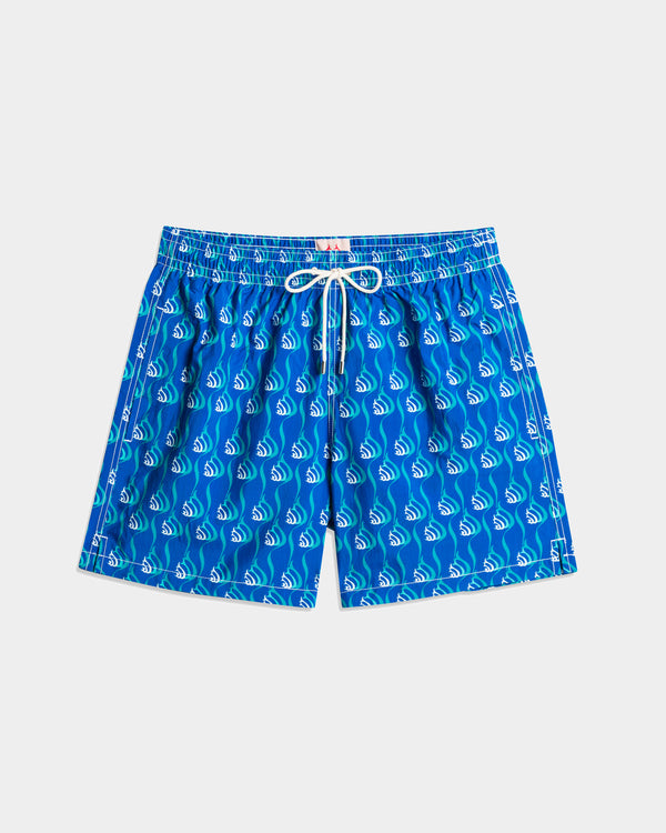 Men'S Swimming Trunk - Snails Blue