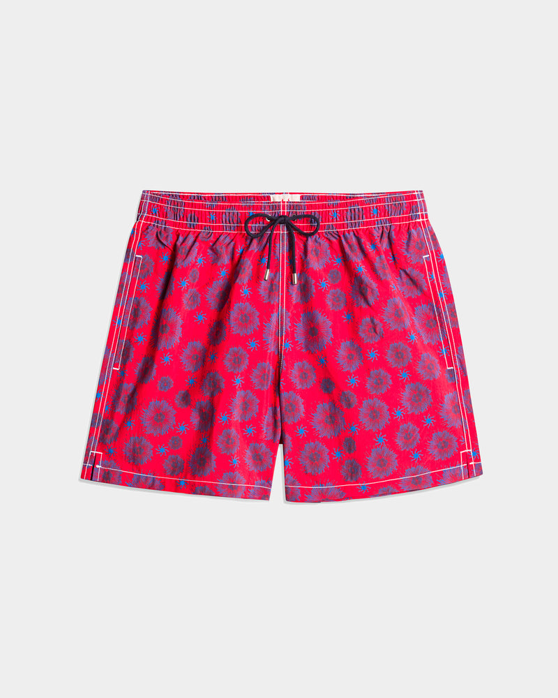 Men's Swimming Trunk - Starfish Red