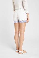 Milly Franco'S Shorts White Blue Emb