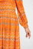 Alessandra Little Flowers Dress Orange