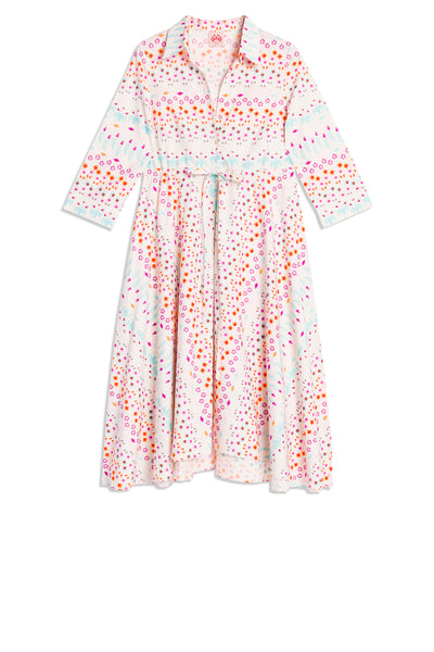 Lucy Little Flowers Dress Ecru