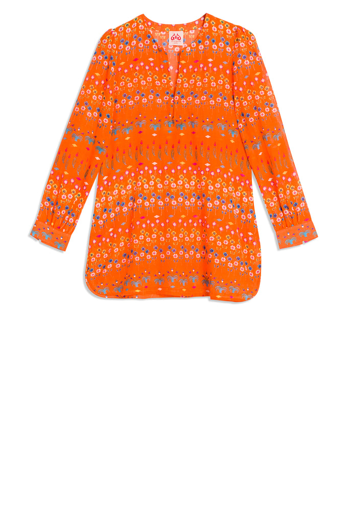 Kate Little Flowers Tunic Orange