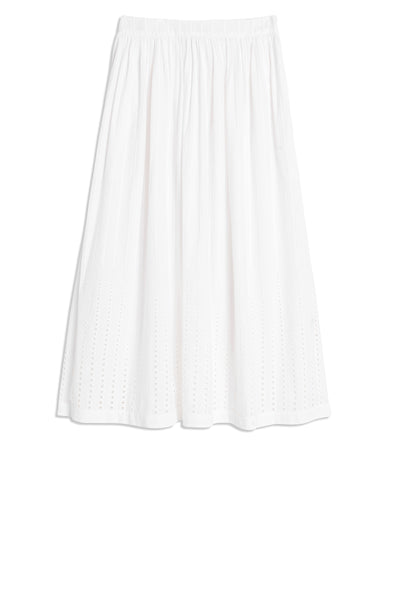 Jane  Embroidery Skirt White