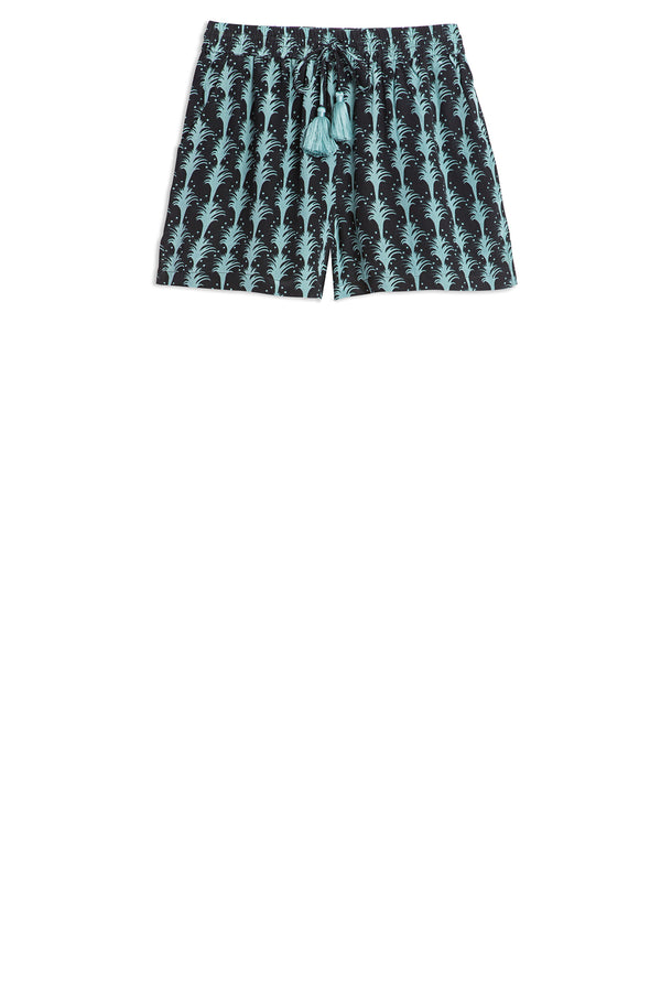 Milly Shorts Little Palms Black
