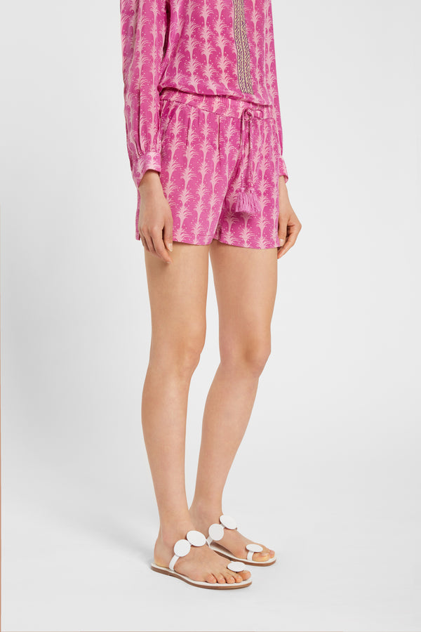Milly Shorts Little Palms Purple