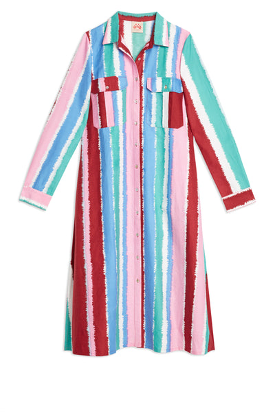 Elisa Stripes Long Caftan Cold