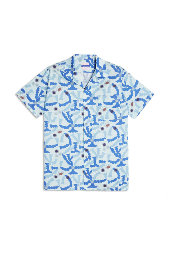 Pierre Marie Hawaiian Shirt Light Blue