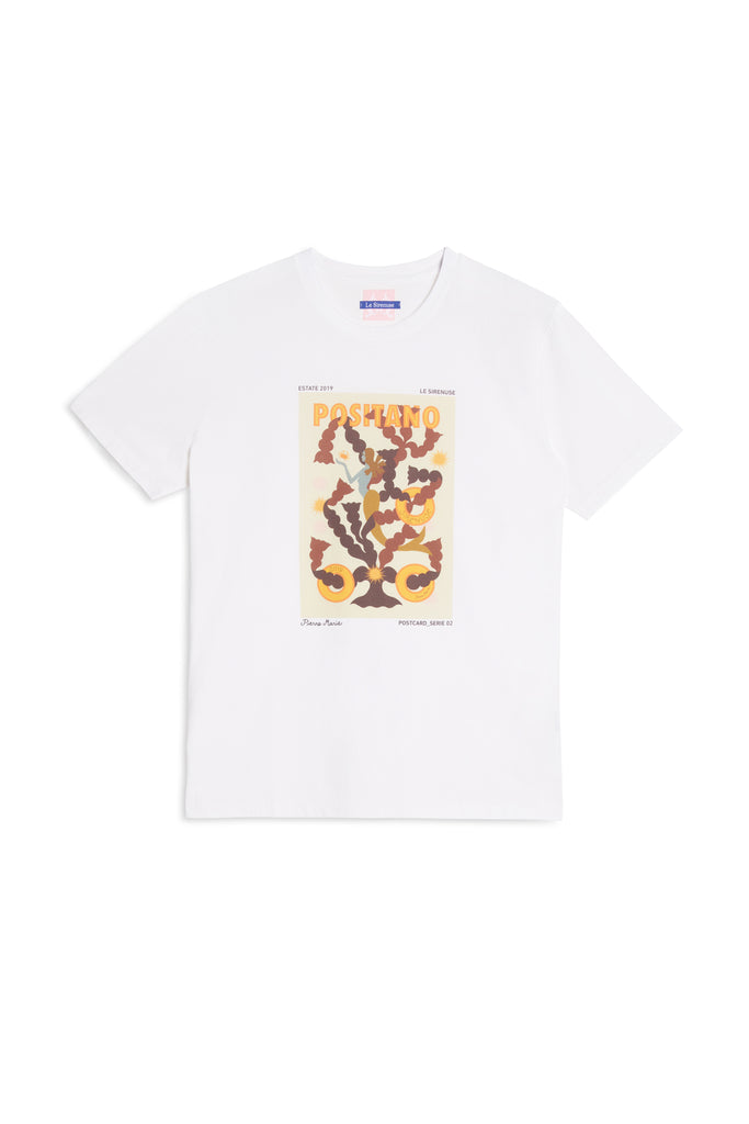 Pierre Marie Postcard T-Shirt 2019 White Red
