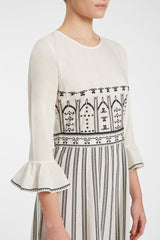 Tracey Greek Mask Dress Cream