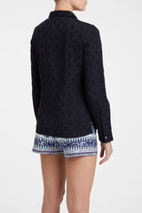 Penny Positano Embroidery Navy Blue