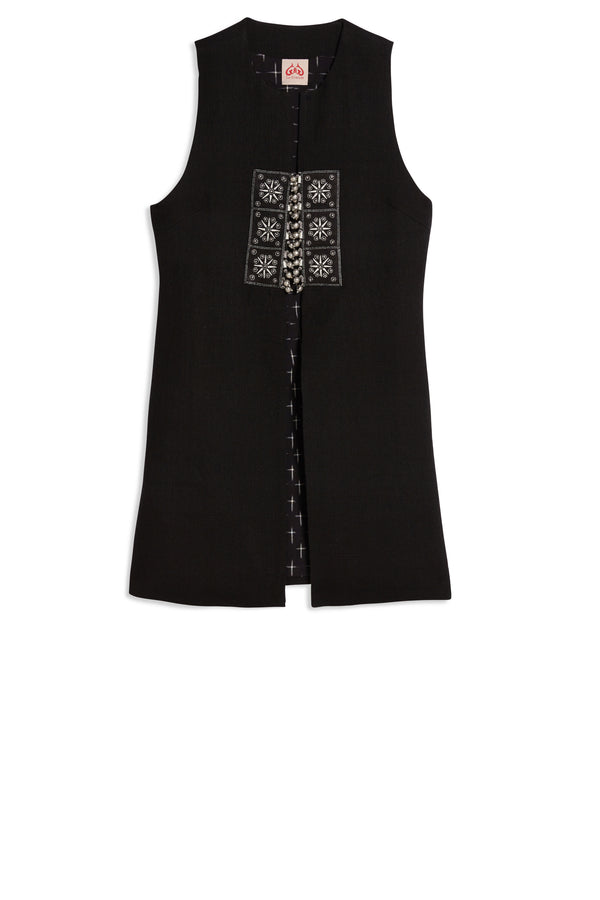 Black Summer Molly Vest Black
