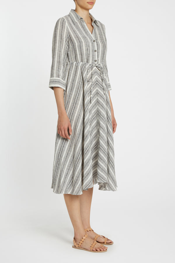 Louise Stripes Lucy Dress Black