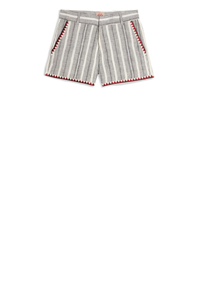 Louise Stripes Shorts Black