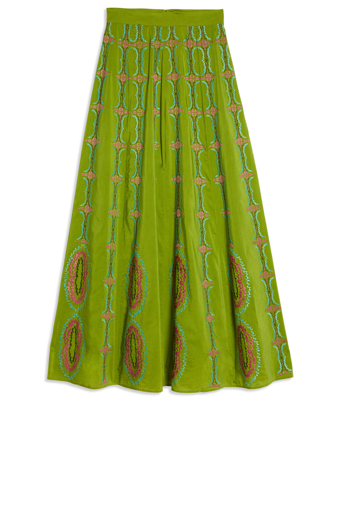 Bubble Gum Camille Skirt Green