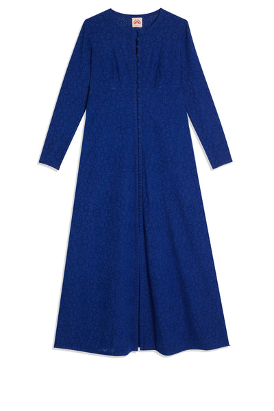 Taxi Cappa Long Open Caftan Electric Blue