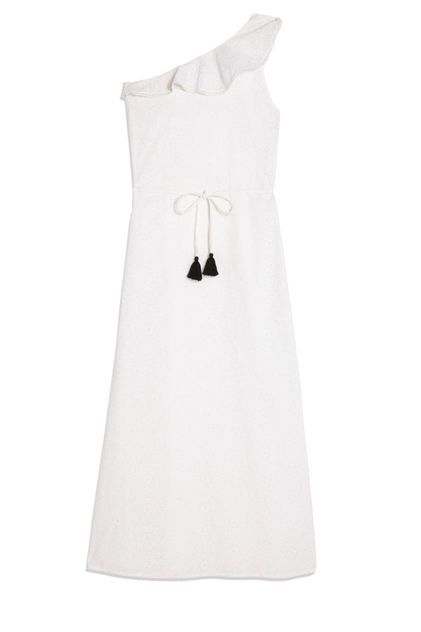 Taxi Anne Dress White