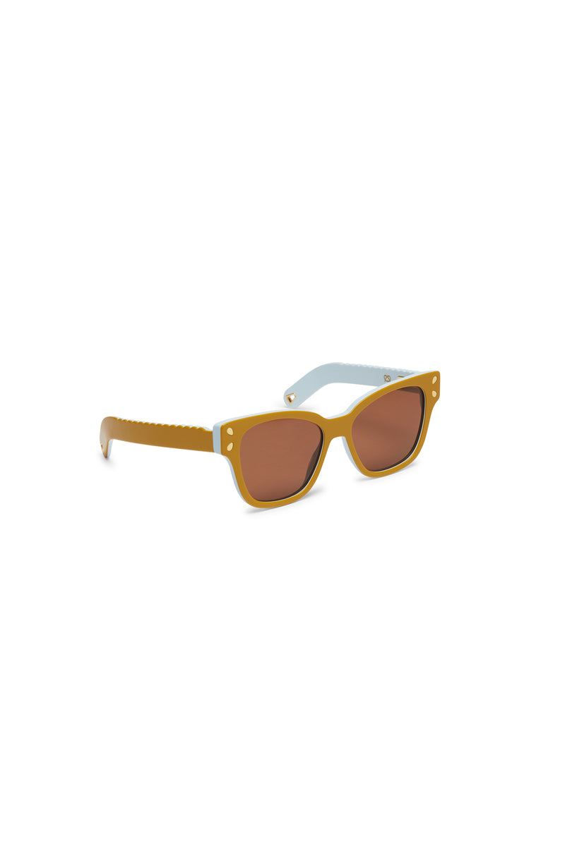 Lucy Folk Diving For Gold Sunglasses Turmeric
