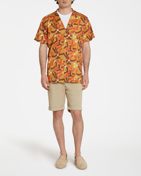 Pierre Marie Hawaiian Shirt Burgundy