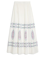 Bubble Gum Camille Skirt White