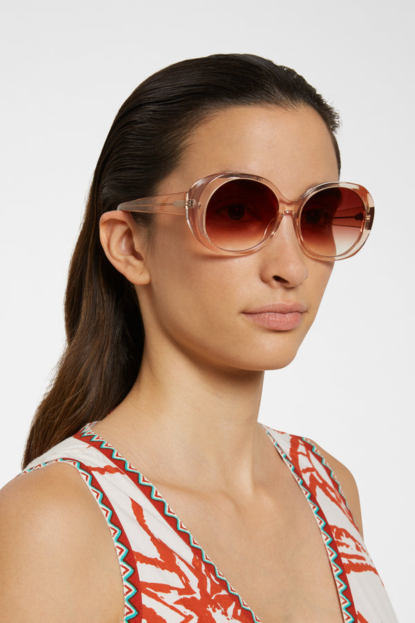 Chimi Voyage Round Sunglasses Fawn