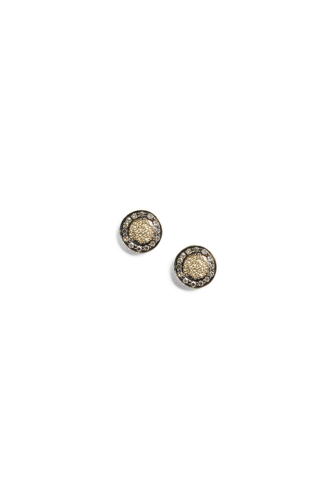 Caleb 2 Earring Black Gold