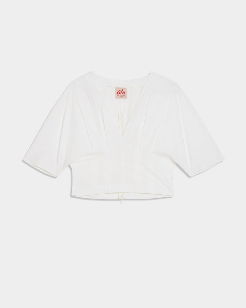 Lila Top Plain White