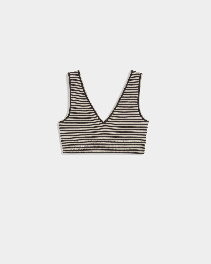 Leo Old Knit Bra Striped