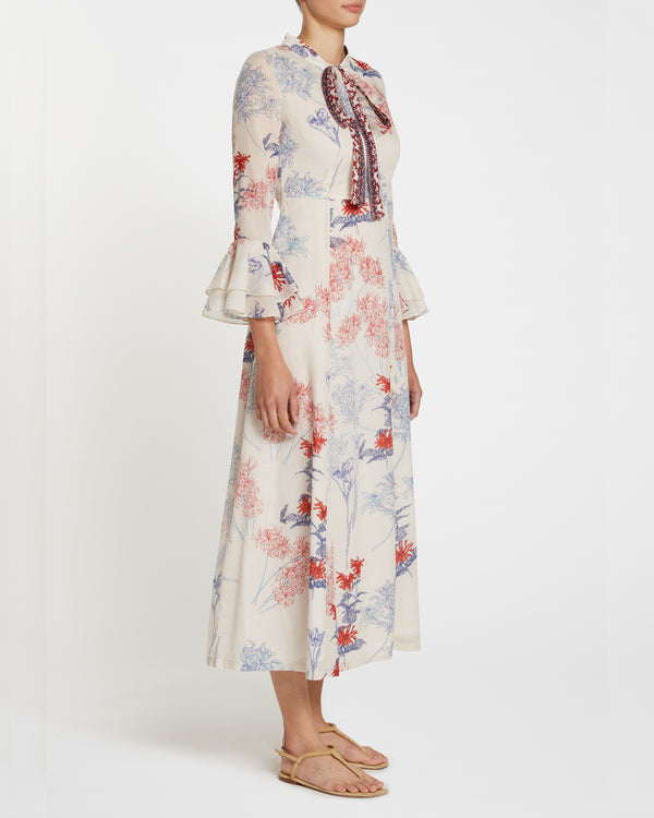 Tracey 2 Spring Flowers Dress Blue