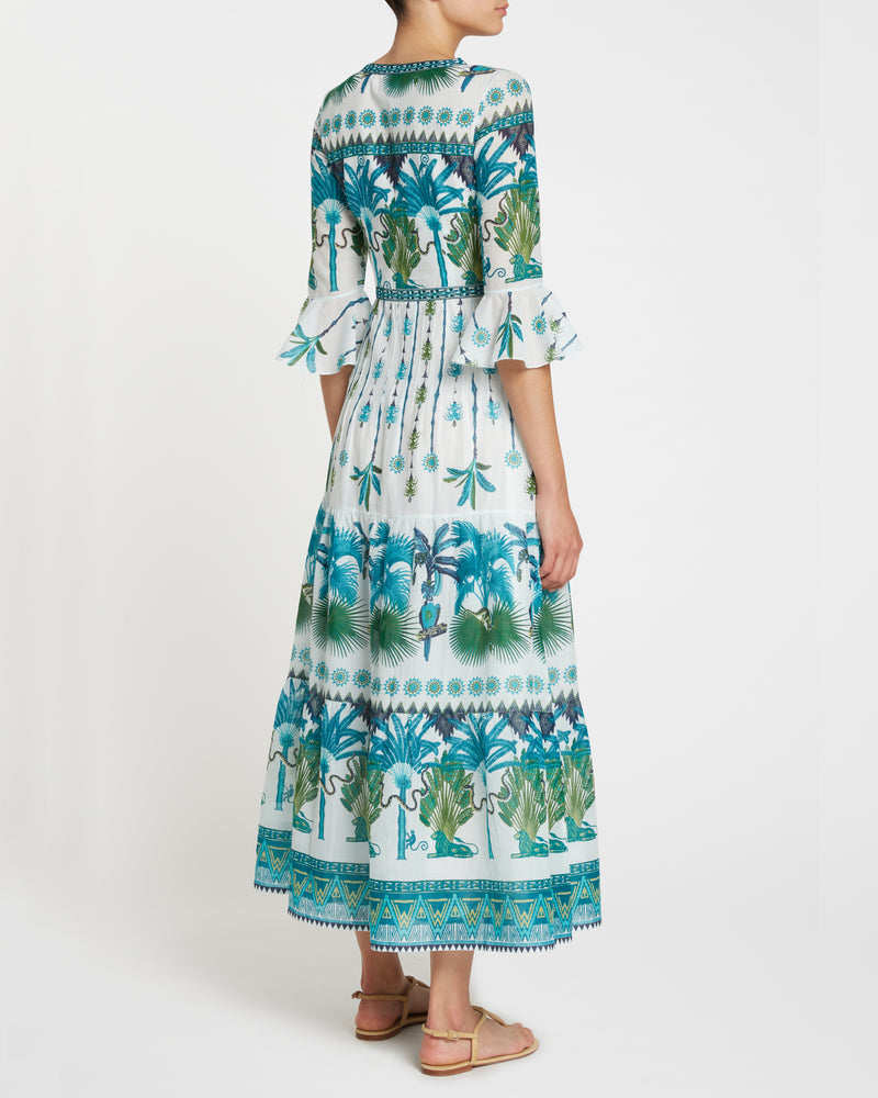 Bella Winter Garden Dress Turquoise