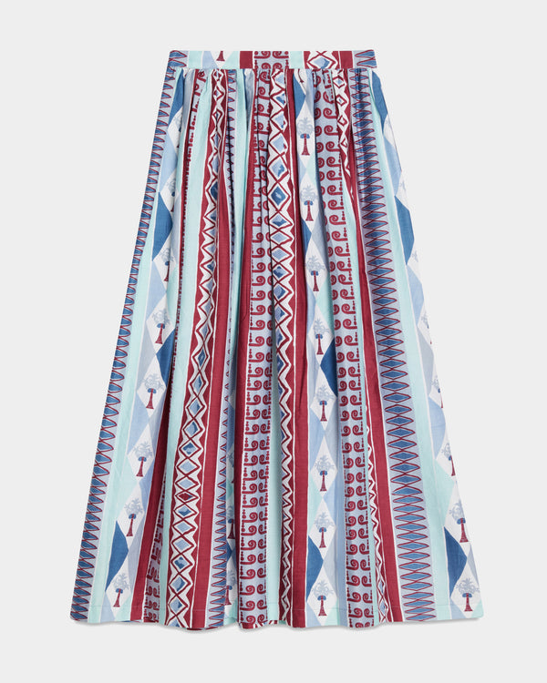 New Jane Arlecchino Skirt Blue