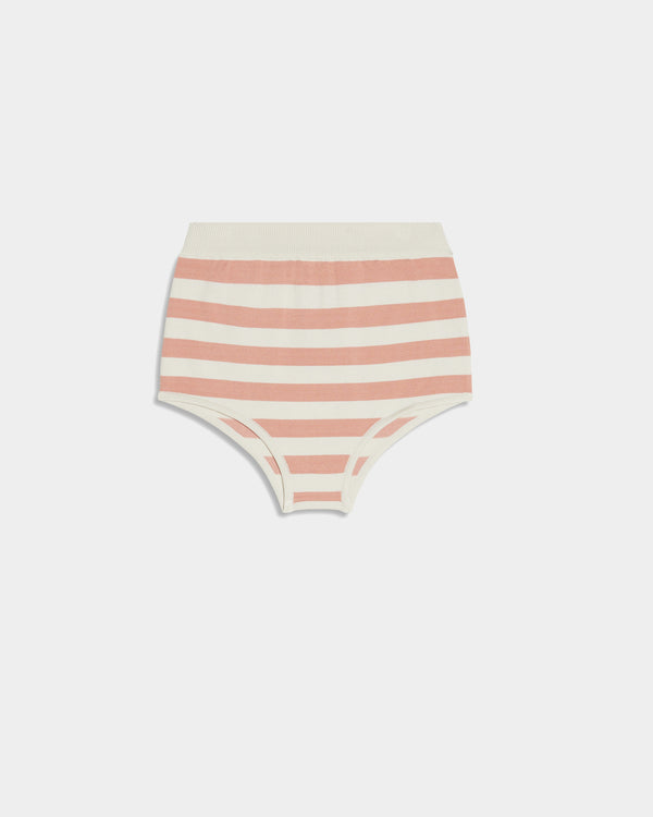 Fox Old Knit Culotte Pink White Striped