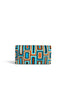 Tropical Edge Clutch Cheska Large Multi Blue