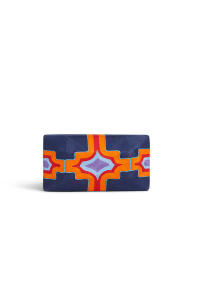 Tropical Edge Clutch Cheska Large Blue Orange