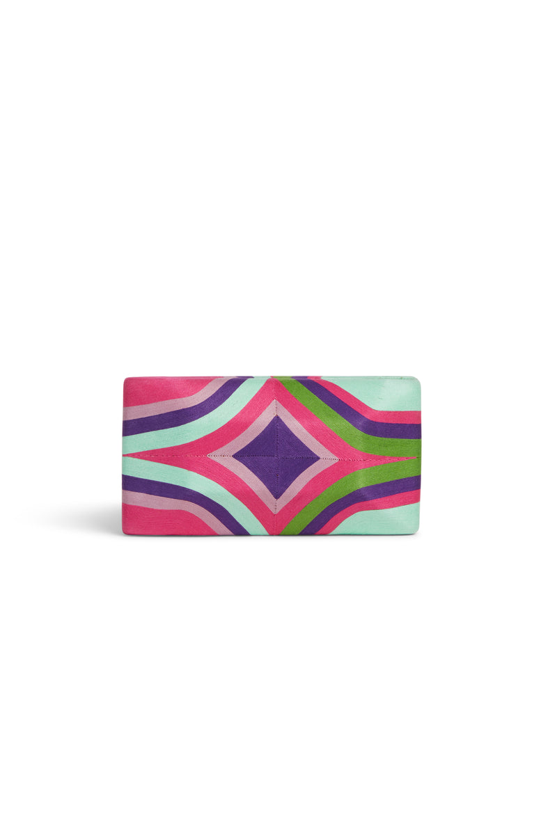 Tropical Edge Clutch Cheska Large Multi Pink