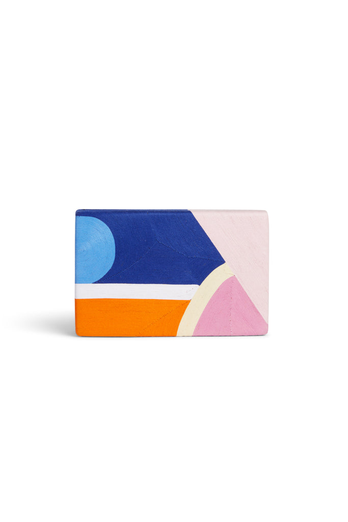 Tropical Edge Clutch Marge  Blue Pink