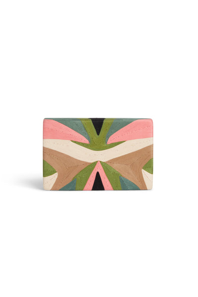 Tropical Edge Clutch Marge  Gray Pink