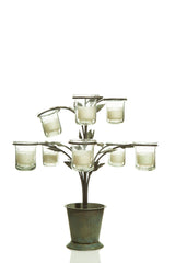 Wrought Iron Candle Holder - 8 Branches