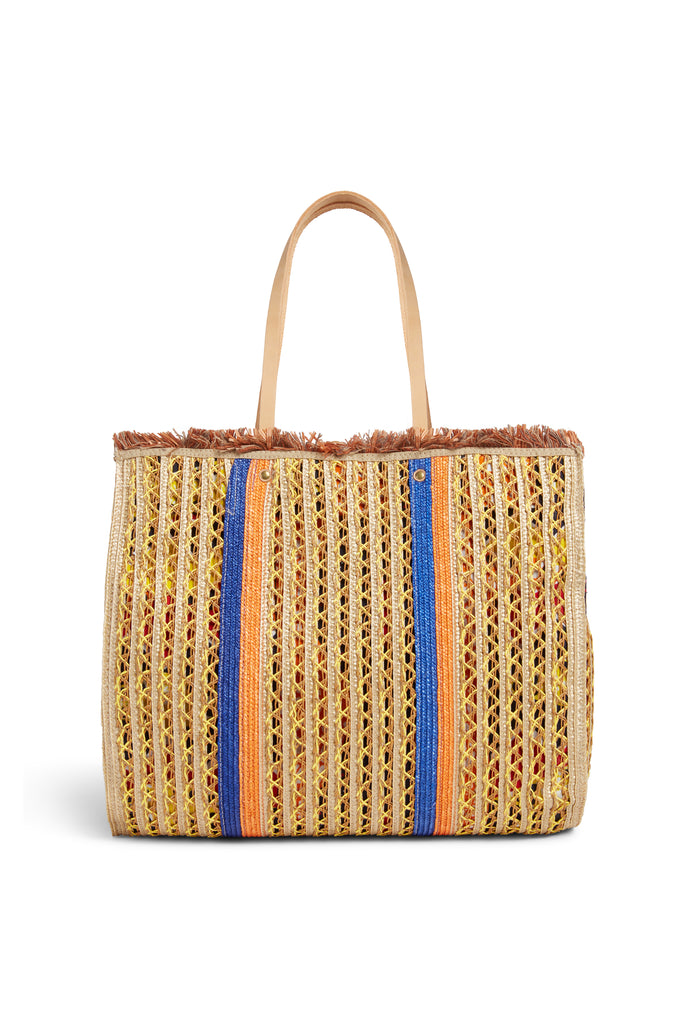 Raffia Shopping Bag J994 Yellow