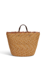 Raffia Bucket Bag J998 Rust