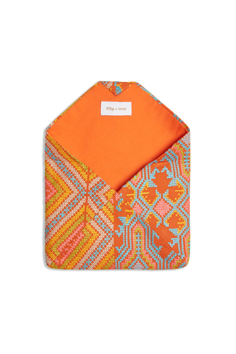 Envelope Clutch B Orange