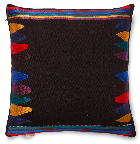 Bukhara Pillow Black