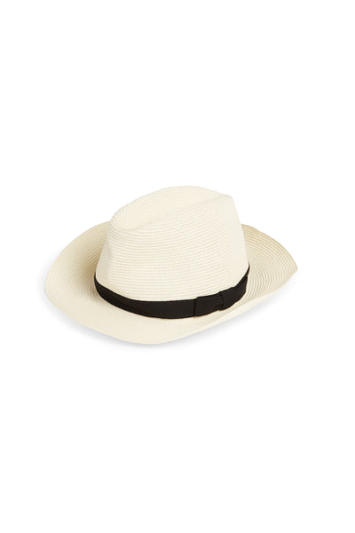 Boxed Hat 106 White Black