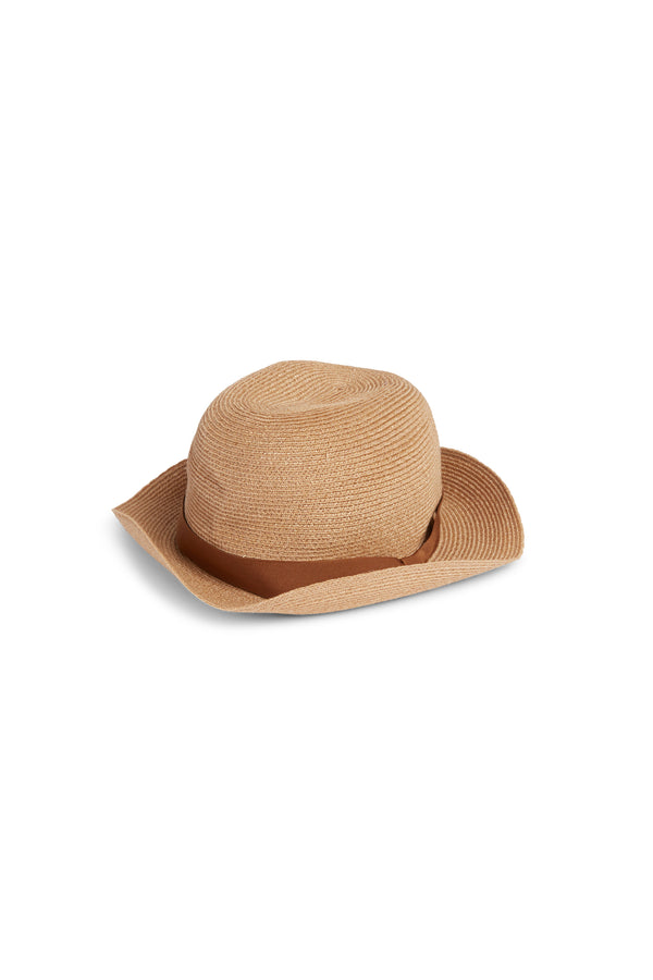 Boxed Hat 205 Light Brown Orange Brown