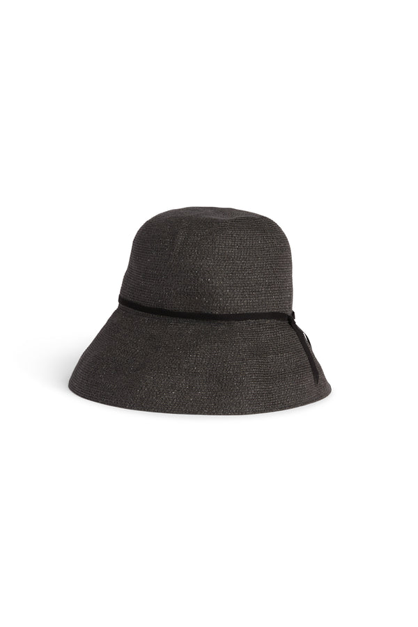 Paper Braid Hat 101w Black