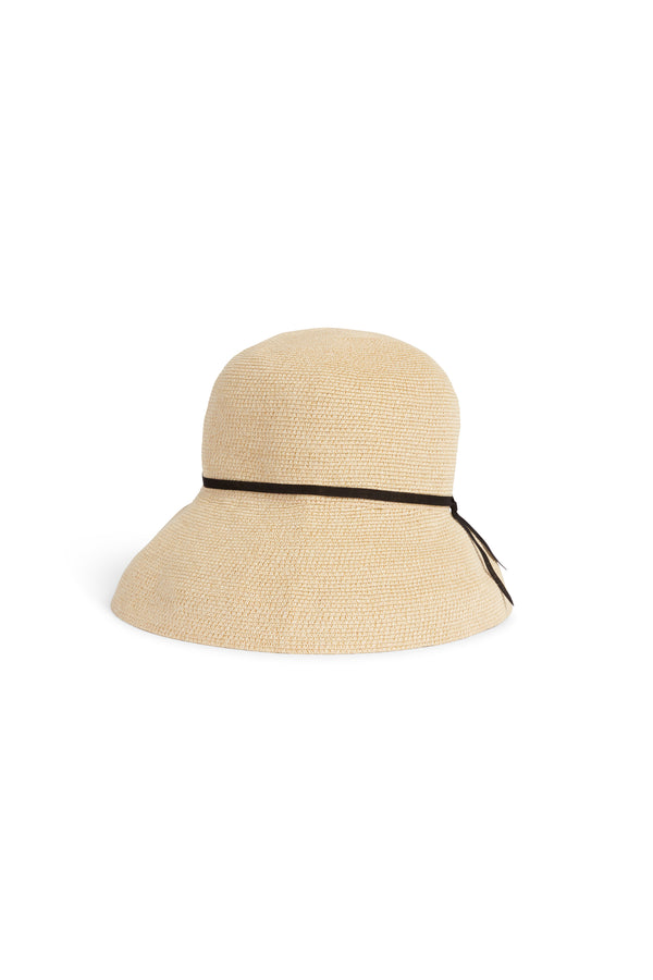 Paper Braid Hat 101w Natural Black