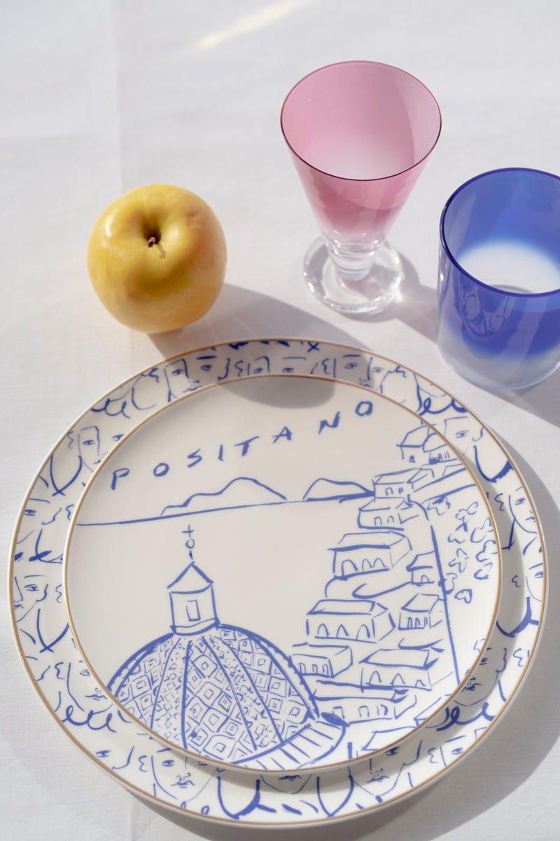Luke Edward Hall Dinner Plate Blue