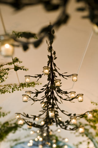 Hanging Wrought Iron Candelabra - 18 Branches